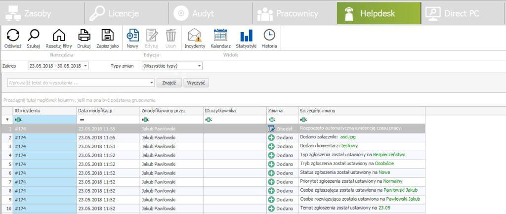 Nowość - możliwość wygenerowania raportu incydentów w wersji 12.2.0 systemu statlook