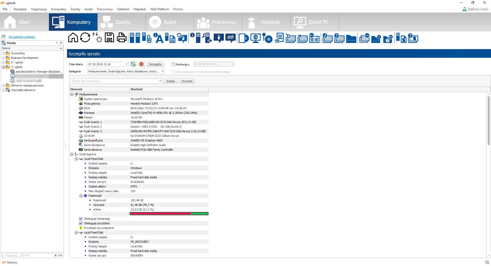 Inwentaryzacja sprzętu komputerowego